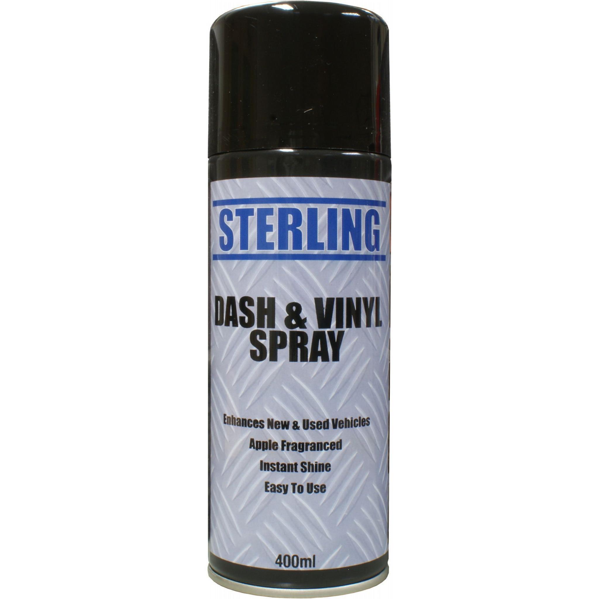 Sterling Dash and Vinyl (apple scented) Aerosol/Spray (400ml) - Car Truck  Valeting Cleaner Dashboard Dash Shine polish
