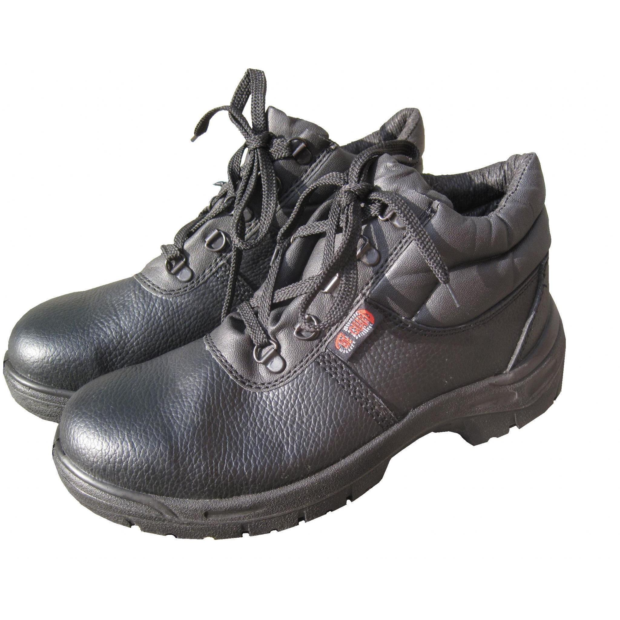 d9b558dc2f8 Safety Boots (size 9) BLACK CHUKKA Leather Safety Work Boots , Steel Toe  Cap & Midsole
