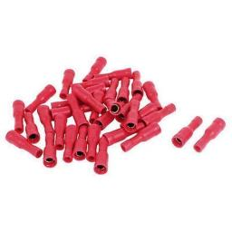 Red Bullet Receptacle 4.0mm(crimps terminals)  - Red Car Auto Van Wiring Crimp Electrical Crimping Bullet Connectors - Auto Electric Cable Wire
