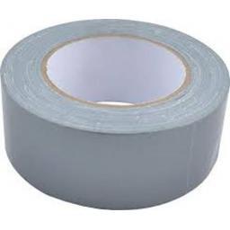 "Gaffer Tape 48mm x 50m SILVER - Duck Duct Cloth Waterproof Gaffer Gaffa Tape Black White Silver 2"" 50mm"