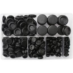 Assorted Box of Blanking Grommets - Rubber Grommet Closed Gromet Blind Hole Plug Bung Bungs