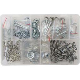 Assorted Box of Brake Shoe Hold down Kit (200) - Pins Washers + Springs