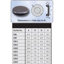 Blanking Grommets 38mm - Rubber Grommet Closed Gromet Blind Hole Plug Bung Bungs