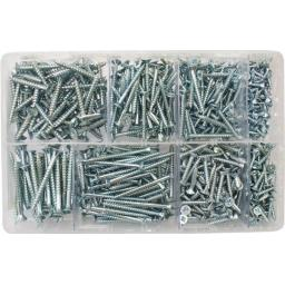Assorted Wood screws BZP (680) 6 - 10 guage up to 2""
