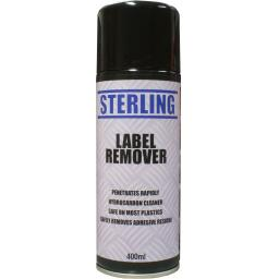 Sterling Label Remover, Aerosol/Spray (400ml) - Remove Label Gum Goo Tape Adhesive Price Tags DIY