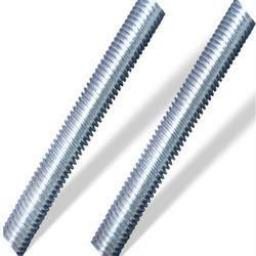 "Screwed Rod 1/4"" - 3/8"" UNF (25)  - Threaded Bar Imperial Steel Zinc Plated All Fully Thread Studding Rod Fastener"