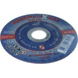 Cutting Discs 125 x 3 x 22 (2) - Angle Grinder Cutting Metal steel Disks Depressed Centre Blade