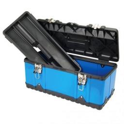 47cm Plastic Tool Box - Storage Organiser Carry Case Sturdy Strong Handle Tray DIY Work Chest