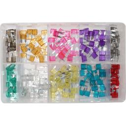 Assorted Box of  MINI Blade Fuses (200)- Car Auto Motorbike Truck Lorry Wiring Electrical Auto Cable Wire