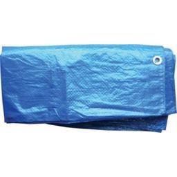 Tarpaulin 3.6 x 2.7m - Waterproof Ground Sheet with Eyelets Lightweight Camping Concert Cover Tarp