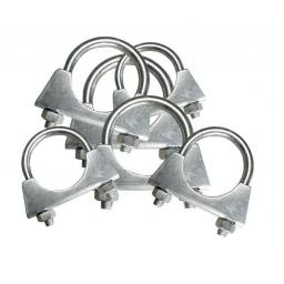 Assorted Exhaust Clips 48 -64mm (35)  - U Hose Clamps Clamping Clip Nuts Bolt pipe car van bracket