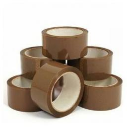 Parcel Tape 50mm x 66m (Brown) - Buff Tape Parcel Packing Packaging Cellotape Carton Box Sealing Warehouse
