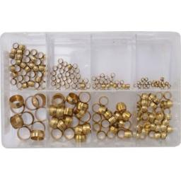 Assorted Box of Brass Olives -  Imperial Plumbing Olives Compression Quality Copper Pipe Gas Water Air