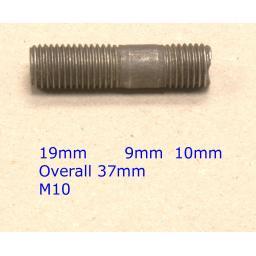 Stud M10 x 37 (Fine) - Toyota (20) Car Auto Exhaust Manifold Studs