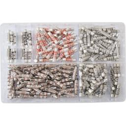 Assorted Box of  Domestic Fuses (280)  Plug Top Household Mains Cartridge Fuse
