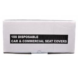 White Disposable Seat Covers- 13 micron (100) - Car Van Valeting Valet Protection Mechanic Garage