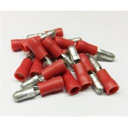 Red Bullet 4.0mm(crimps terminals)  - Red Car Auto Van Wiring Crimp Electrical Crimping Bullet Connectors - Auto Electric Cable Wire