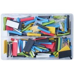 Assorted Box of 2:1 Coloured Heatshrink Mix - Assorted Coloured 2:1 Heat Shrink Wrap Sleeving Car Auto Wiring cable Electrical Black  Tube Sleeving