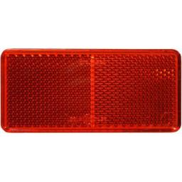 Reflector - Red (5) - Self Adhesive Stick On Rear Reflectors 94mm x 44mm - Trailers, caravan, gateposts,car , van, lorry,Towing Safety