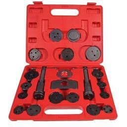 Silverline 21pc Universal Brake Rewind Tool  Wind Set Auto Back Car Rewind Caliper Brake Piston Kit Universal Disc