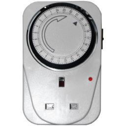 24h Programmable Timer Clock 24hour Mains Plug In Timer Switch Time Clock Socket UK 3 Pin Adapter