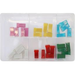 Assorted Box of  JCASE Type Fuses (30) - Car Auto Motorbike Truck Lorry Wiring Electrical Auto Cable Wire