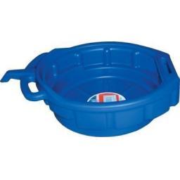 Oil Drain Pan (16 litres) Heavy Duty - Oil Coolant & Gearbox Fuel Drain Pan Tray 16 litre capacity bucket Car Van Motorbike