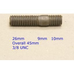 Stud 3/8 UNC x 1-13/16 - Volvo (20) Car Auto Exhaust Manifold Studs