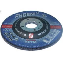 Grinding Discs 100 x 6 x 16 (5) - Angle Grinder Disks Depressed Centre Blade Steel