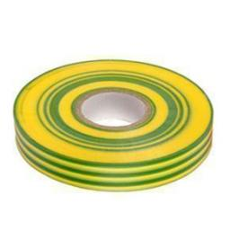 PVC insulation Tape BS3924 Earth 19mm X 20m (g/y) - Wide Electrical Insulating Flame Retardant Cable Repair Electric Wiring Colour