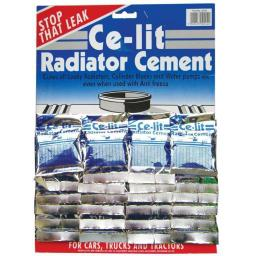 Granville Ce-Lit Radiator Cement (card of 24) Radiator Stop Leak Cement Sealant Powder Sachets car van truck lorry