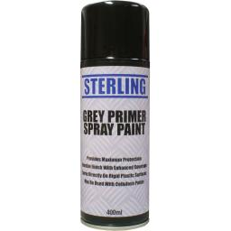 Sterling Grey Primer Spray Paint Aerosol/Spray (400ml)- Car Van Auto Truck Lorry Motorbike Boat Bodyshop Paint