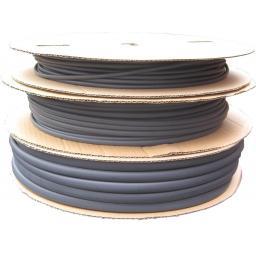Heatshrink Tubing 1.2mm Black x 300m Roll -Car Auto Wiring cable Electrical Black Heat Shrink Tube Sleeving