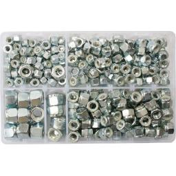 "Assorted Nylon Insert Nuts (1/4 - 1/2"" UNF) (325) used with Nuts and Flat Washers 8.8 High Tensile Fasteners Bolts Set Screws Metric"