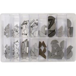Assorted Box of  Woodruff Keys (140) - Imperial ,Steel , Mechanical Gears,semicircular , prop driver shaft