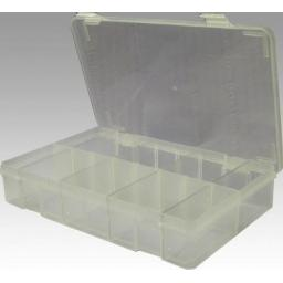 Empty Plastic Box (+ 8 dividers) - Assorted Box Storage Tray Container case kit