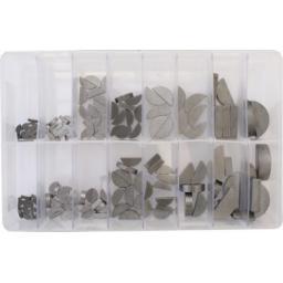 Assorted Box of  Woodruff Keys (150) - Metric  ,Steel , Mechanical Gears,semicircular , prop driver shaft