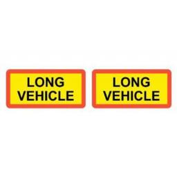 Pair of Marker Boards UK (type 5) - Long Vehicle Signs Lorry Truck Trailer Aluminium Sign Board