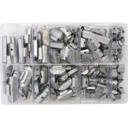 Assorted Box of Wheelweights - Car Van Alloy Steel Wheel Weights Tire Tyre Balancing Puncture