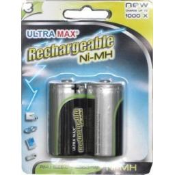 Rechargeable Battery/Batteries C (2) - Rechargeable Battery/Batteries C Ni-MH  Toys