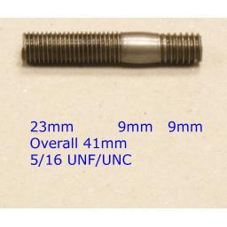 Stud 5/16 UNC/UNF x 1-11/16 - Ford/MGB (20) Car Auto Exhaust Manifold Studs