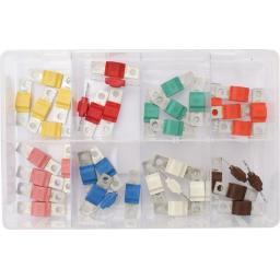 Assorted Box of  Midi Fuses (40)- Car Auto Motorbike Truck Lorry Wiring Electrical Auto Cable Wire