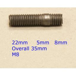 Stud M8 x 35 - Audi/VW/Vauxhall (20) Car Auto Exhaust Manifold Studs