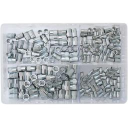 Assorted Box of  Nutserts 4mm-8mm (200) - Serrated Steel Nut Inserts blind nutserts Rivnuts grooved knurled 4 5 6 8 mm