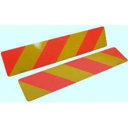 Pair of Marker Boards UK (type 2/3)  - Signs Lorry Truck Trailer Aluminium Chevron Sign Board