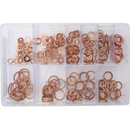 Assorted Box of Fuel injection copper washers - Car Engine Injector Holder Seal