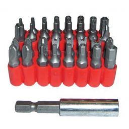 Silverline 33-Piece Security Bit Set (+ holder) suit screwdriver Torx TX/Star Hex Allen Tamper Proof Tri Holder