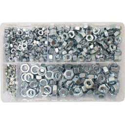 Assorted Steel Nuts M5-M10 BZP (450) used with Nuts and Flat Washers 8.8 High Tensile Fasteners Bolts Set Screws Metric