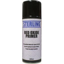 Sterling Paint - Red Oxide Aerosol/Spray (400ml) - Car Van Auto Truck Lorry Motorbike Boat Bodyshop Paint