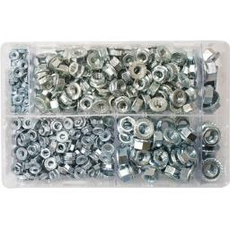 Assorted Flanged Nuts Metric (370) used with Nuts and Flat Washers 8.8 High Tensile Fasteners Bolts Set Screws Metric